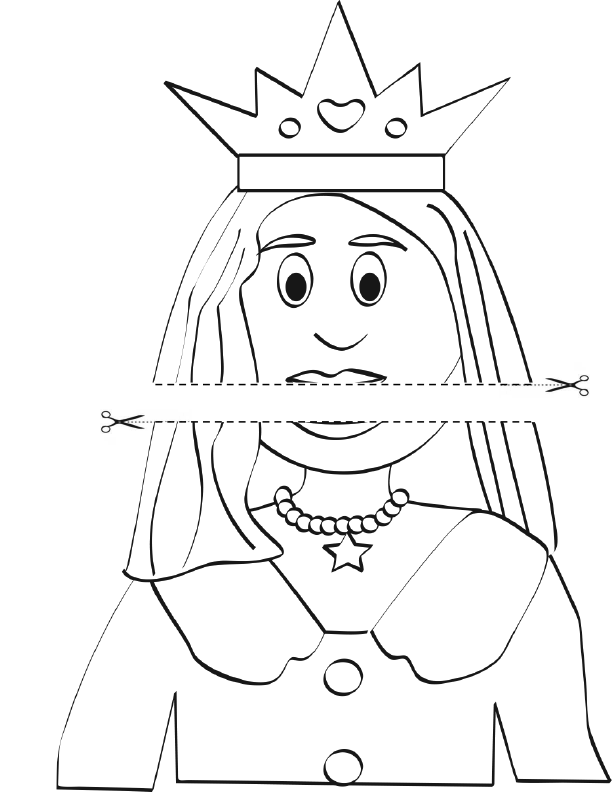 Template for the Queen Jean puppet